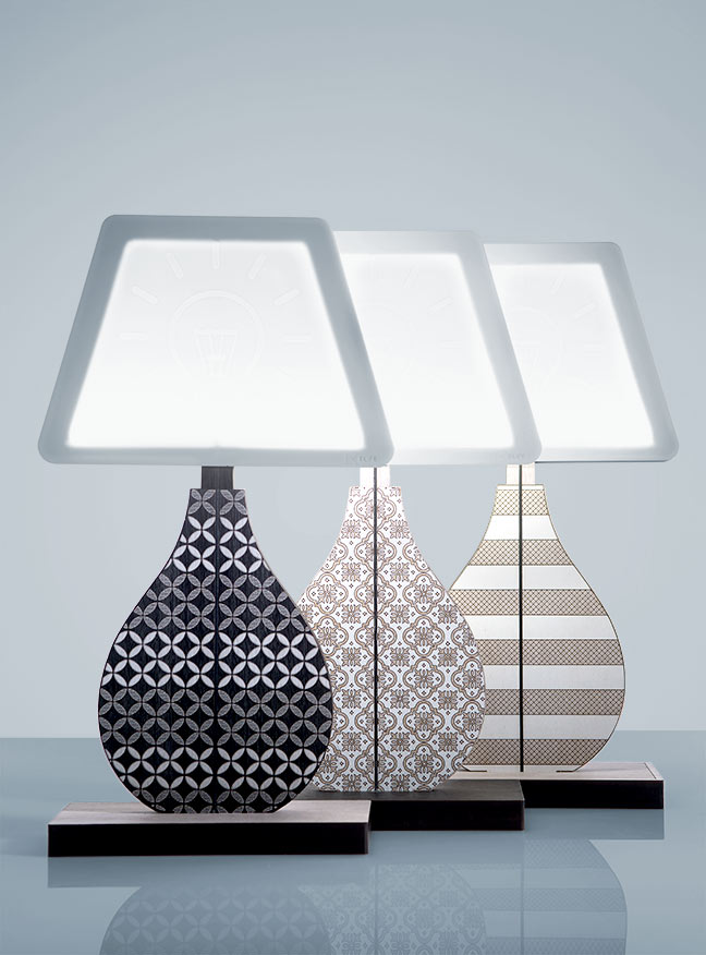 VES Fine Objects lampade design moderno in Krion K-Life made in italy